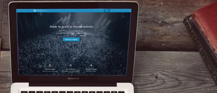 Homepage van WordPress.com