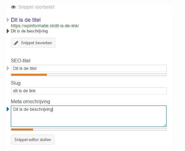 metadata instellen wordpress