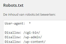 robots.txt in WordPress