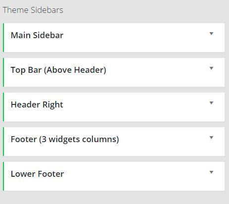 Wordpress sidebar